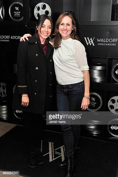 Aubrey Plaza and Molly Shannon attend Waldorf Astoria Hosts 'Life After Beth' Cast Dinner at Sundance Film Festival on January 18 2014 in Park City...