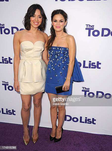 """Aubrey Plaza and Rachel Bilson arrives at the CBS Films """"The To Do List"""" at Regency Bruin Theatre on July 23, 2013 in Los Angeles, California."""