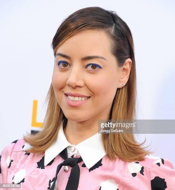 Aubrey Plaza arrives at the 2017 Los Angeles Film Festival Closing Night Screening Of Ingrid Goes West at Arclight Cinemas Culver City on June 22...