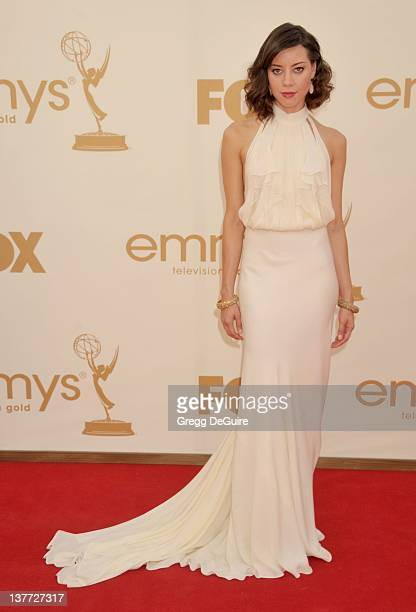 Aubrey Plaza arrives at the Academy of Television Arts & Sciences 63rd Primetime Emmy Awards at Nokia Theatre L.A. Live on September 18, 2011 in Los...