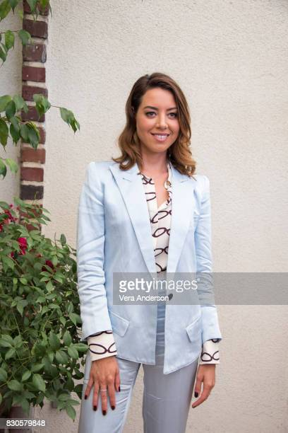 "Aubrey Plaza at the ""Ingrid Goes West"" Press Conference on August 10, 2017 in West Hollywood, California."