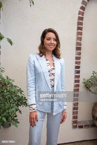 Aubrey Plaza at the Ingrid Goes West Press Conference on August 10 2017 in West Hollywood California