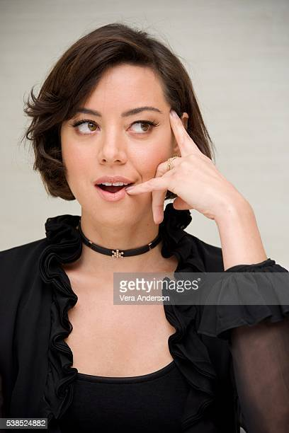 Aubrey Plaza at the 'Mike and Dave Need Wedding Dates' Press Conference at the London Hotel on June 6 2016 in West Hollywood California