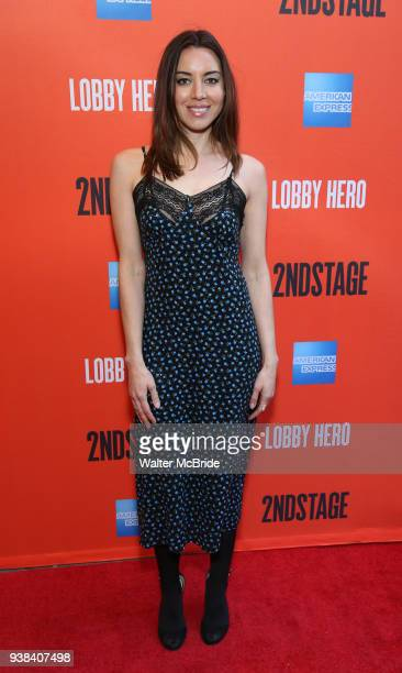 Aubrey Plaza attending the Broadway Opening Night Performance of 'Lobby Hero' at The Hayes Theatre on March 26 2018 in New York City