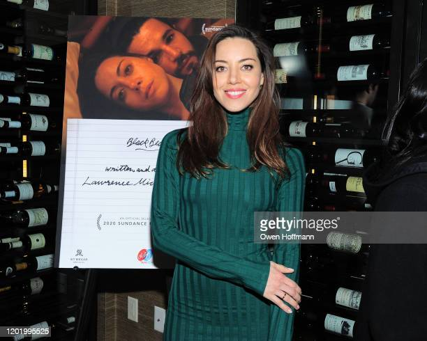 "Aubrey Plaza attends a private dinner during Sundance for ""Blackbear"" hosted by RAND Luxury at The St. Regis Deer Valley on January 25, 2020 in Park..."