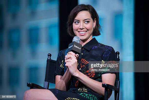 """Aubrey Plaza attends AOL Build Speaker Series to discuss her new movie """"Mike and Dave Need Wedding Dates"""" at AOL Studios in New York on June 21, 2016..."""