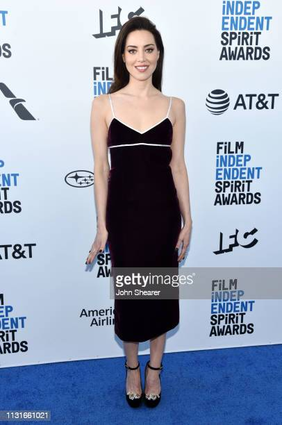 Aubrey Plaza attends the 2019 Film Independent Spirit Awards on February 23 2019 in Santa Monica California