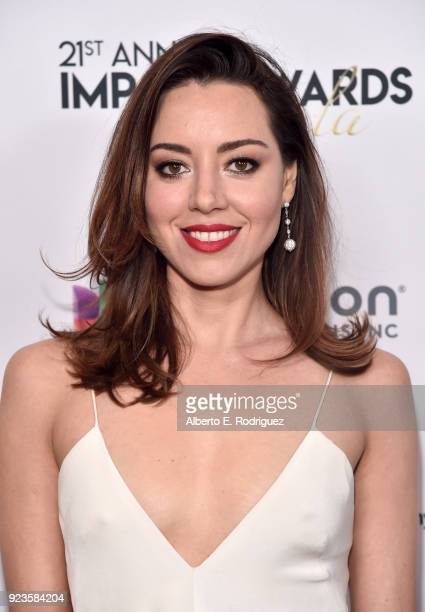 Aubrey Plaza attends the 21st annual NHMC Impact Awards Gala at Regent Beverly Wilshire Hotel on February 23 2018 in Beverly Hills California