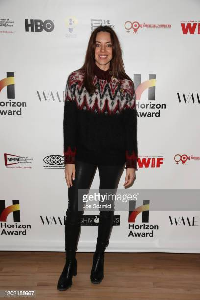Aubrey Plaza attends the 6th Annual Horizon Award at WME Lounge on January 26, 2020 in Park City, Utah.