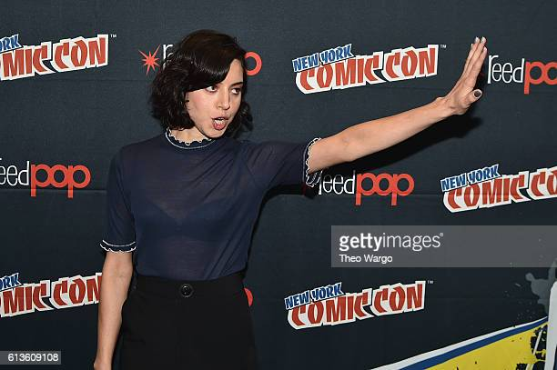 Aubrey Plaza attends the FX Network's Legion Press Room during 2016 New York Comic Con at The Javits Center on October 9 2016 in New York City