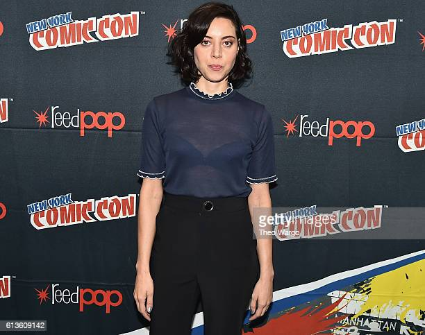 Aubrey Plaza attends the FX Network's 'Legion' Press Room during 2016 New York Comic Con at The Javits Center on October 9 2016 in New York City