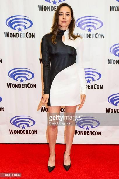 Aubrey Plaza attends the Legion photocall at WonderCon 2019 Day 1 at Anaheim Convention Center on March 29 2019 in Anaheim California