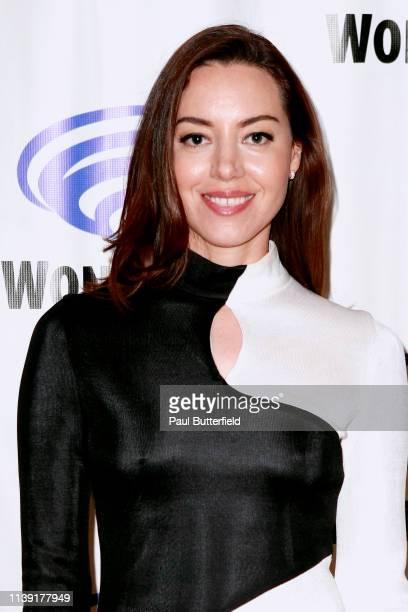 Aubrey Plaza attends the Legion press line during WonderCon 2019 at Anaheim Convention Center on March 29 2019 in Anaheim California