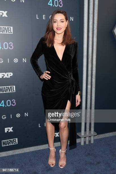 Aubrey Plaza attends the premiere of FX's 'Legion' Season 2 at DGA Theater on April 2 2018 in Los Angeles California