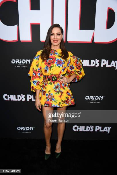 Aubrey Plaza attends the Premiere Of United Artists Releasing's Child's Play at ArcLight Hollywood on June 19 2019 in Hollywood California