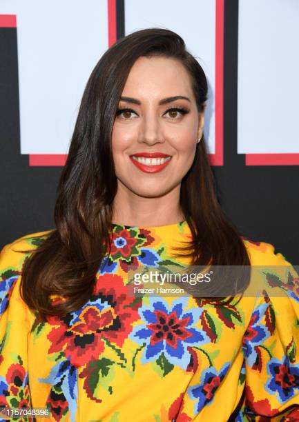 "Aubrey Plaza attends the Premiere Of United Artists Releasing's ""Child's Play"" at ArcLight Hollywood on June 19, 2019 in Hollywood, California."