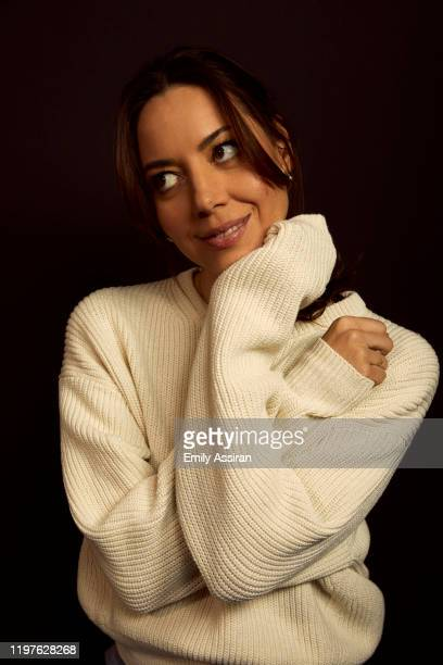 Aubrey Plaza from Black Bear poses for a portrait at the Pizza Hut Lounge on January 25, 2020 in Park City, Utah.