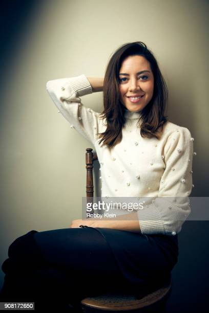 Aubrey Plaza from the film 'An Evening With Beverly Luff Linn' poses for a portrait at the YouTube x Getty Images Portrait Studio at 2018 Sundance...