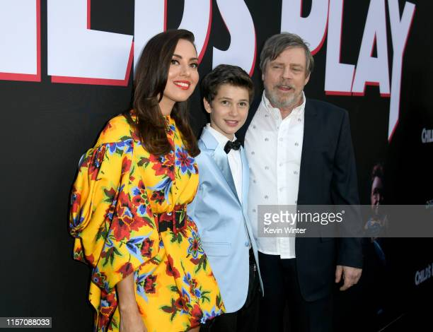 Aubrey Plaza Gabriel Bateman and Mark Hamill arrive at the premiere of Orion Pictures and United Artists Releasing Child's Play at ArcLight Hollywood...