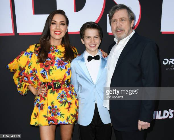 Aubrey Plaza Gabriel Bateman and Mark Hamill attend the Premiere Of United Artists Releasing's Child's Play at ArcLight Hollywood on June 19 2019 in...