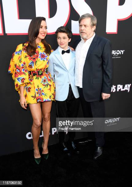 Aubrey Plaza Gabriel Bateman and Mark Hamill attend the Premiere of Orion Pictures and United Artists Releasing's Child's Play at ArcLight Hollywood...