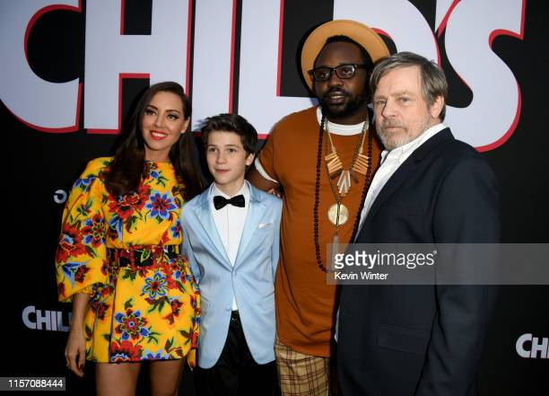Aubrey Plaza Gabriel Bateman Brian Tyree Henry and Mark Hamill arrive at the premiere of Orion Pictures and United Artists Releasing Child's Play at...