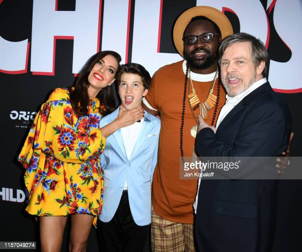 Aubrey Plaza Gabriel Bateman Brian Tyree Henry and Mark Hamill attend the Premiere Of United Artists Releasing's Child's Play at ArcLight Hollywood...