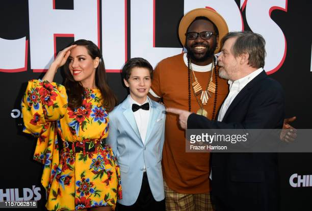 Aubrey Plaza Gabriel Bateman Brian Tyree Henry and Mark Hamill attend the Premiere of Orion Pictures and United Artists Releasing's Child's Play at...