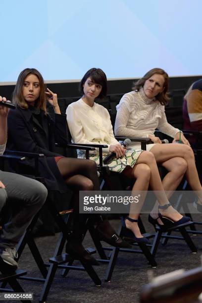 Aubrey Plaza Kate Micucci and Molly Shannon speak at the The Little Hours Screening at the Alamo Drafthouse Theate on May 20 2017 in New York City