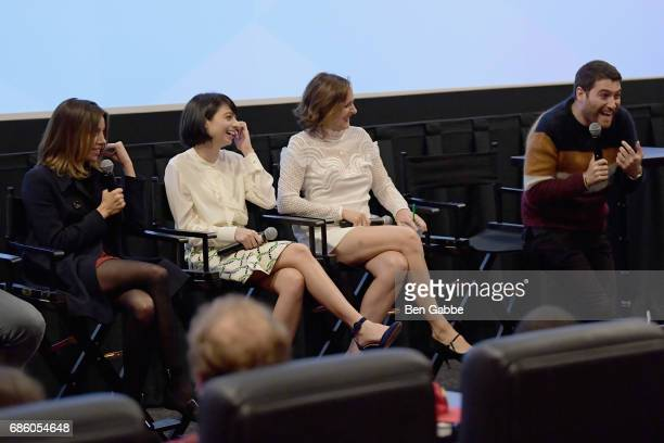 Aubrey Plaza Kate Micucci Molly Shannon and Adam Pally speak at the The Little Hours Screening at the Alamo Drafthouse Theate on May 20 2017 in New...