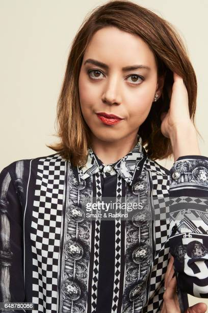 Aubrey Plaza poses for portrait session at the 2017 Film Independent Spirit Awards on February 25 2017 in Santa Monica California
