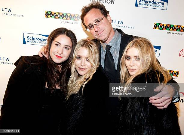 Aubrey Saget MaryKate Olsen comedian Bob Saget and Ashley Olsen attend Stand Up For Scleroderma at Carolines On Broadway on November 8 2010 in New...