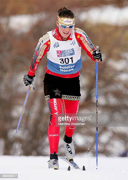 Aubrey Smith in the 10K Classic event January 7 2006 during the US Cross Country Championships at Soldier Hollow in Midway Utah