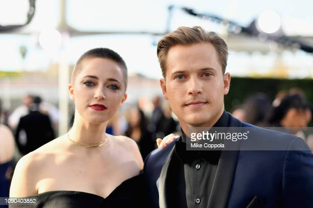 Aubrey Swander and Wyatt Nash attend the 25th Annual Screen Actors Guild Awards at The Shrine Auditorium on January 27, 2019 in Los Angeles,...