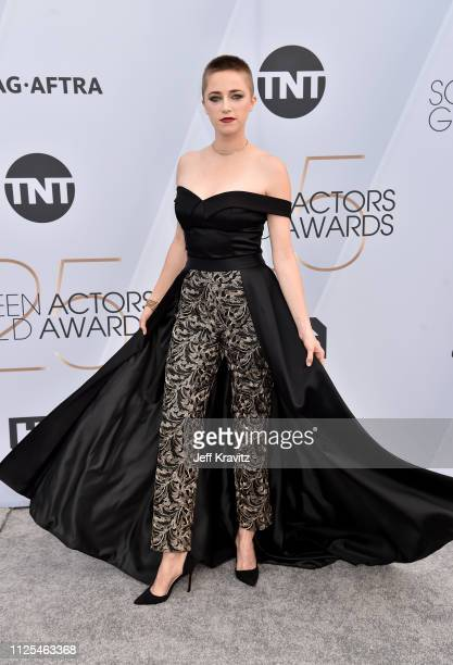 Aubrey Swander attends the 25th Annual Screen Actors Guild Awards at The Shrine Auditorium on January 27, 2019 in Los Angeles, California.