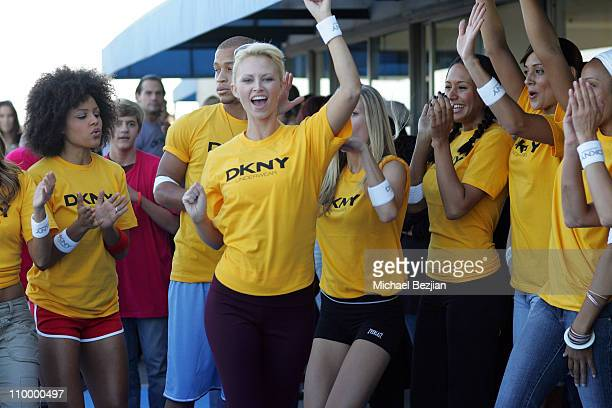 Aubrie Lemon and Yellow Team during DKNY Men's Underwear Celebrity Field Day at Skysport Spa in Beverly Hills California United States