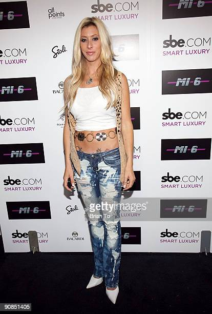 Aubry Fisher of LA Ink attends Mi6 Nightclub Grand Opening Party on September 15 2009 in West Hollywood California