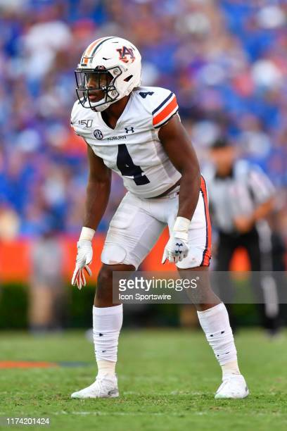 Auburn defensive back Noah Igbinoghene during the second half of a college football game between the Florida Gators and the Auburn Tigers on October...