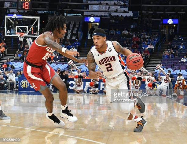 Auburn guard Bryce Brown with the ball during a Southeastern Conference Basketball Tournament game between Auburn and Alabama on March 09 at...
