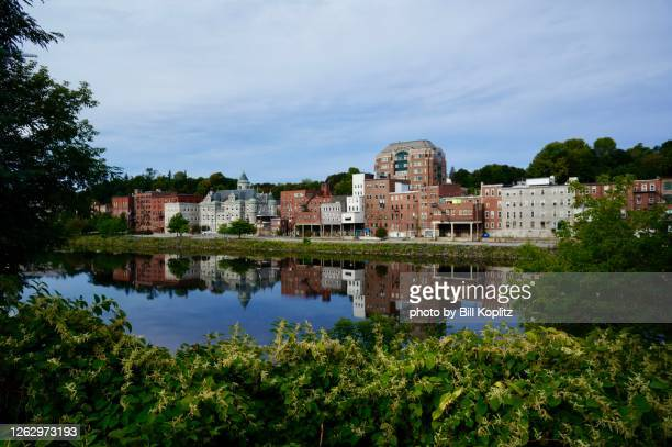 auburn maine river front - augusta maine stock pictures, royalty-free photos & images