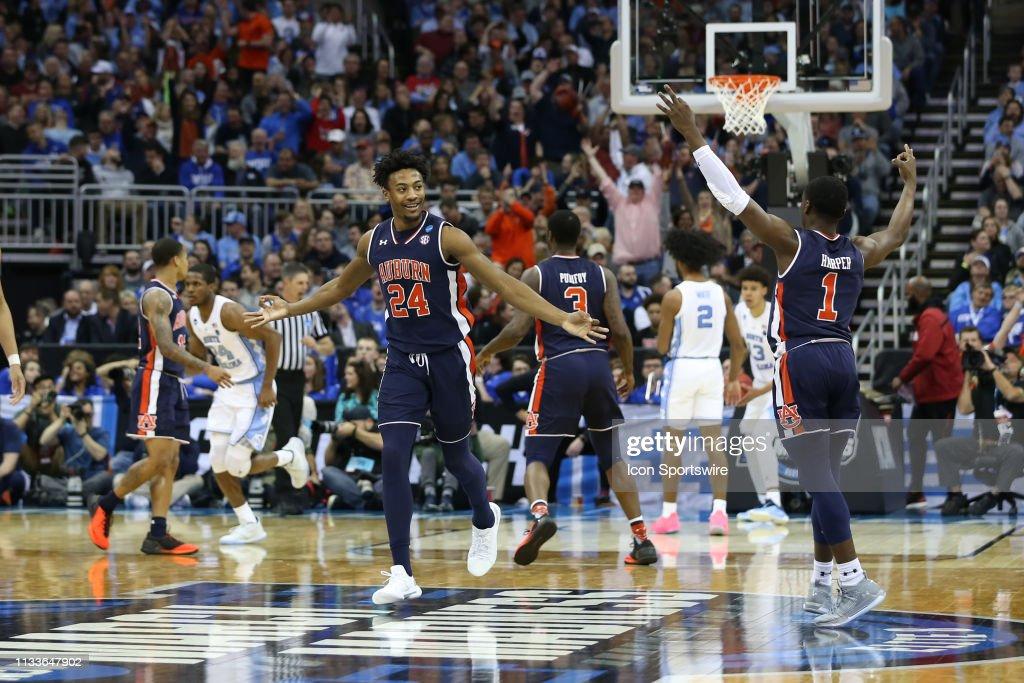 NCAA BASKETBALL: MAR 29 Div I Men's Championship - Sweet Sixteen - Auburn v North Carolina : News Photo