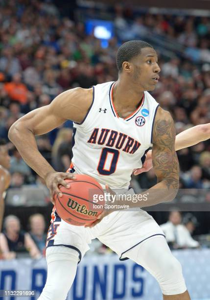 Auburn Tigers forward Horace Spencer during a game between the Auburn Tigers and the New Mexico State Aggies on March 21 2019 at Vivint Smart Smart...