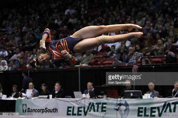 Auburn Tigers Gracie Day performs the floor exercise at the Elevate the Stage Meet between the Auburn Tigers and the Alabama Crimson Tide Alabama...