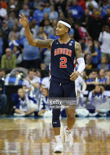 Auburn Tigers guard Bryce Brown calls out the defense in the second half of the NCAA Midwest Regional Final game between the Auburn Tigers and...
