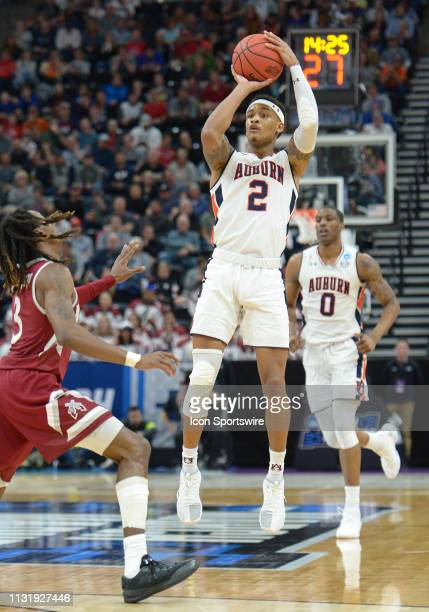 Auburn Tigers guard Bryce Brown during a game between the Auburn Tigers and the New Mexico State Aggies on March 21 2019 at Vivint Smart Smart Home...