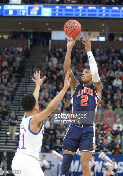 Auburn Tigers guard Bryce Brown during a game between the Auburn Tigers and the Kansas Jayhawks on March 23 2019 at Vivint Smart Smart Home Arena in...