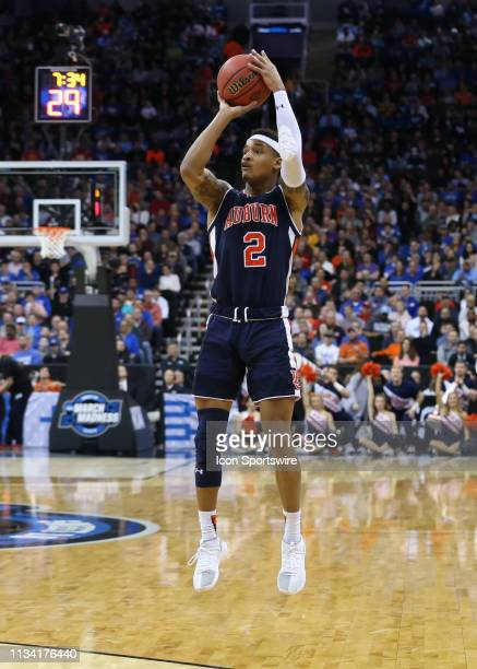 Auburn Tigers guard Bryce Brown shoots a three in the first half of the NCAA Midwest Regional Final game between the Auburn Tigers and Kentucky...