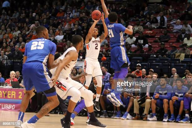 Auburn Tigers guard Bryce Brown takes a shot in the game between the Middle Tennessee Blue Raiders and the Auburn Tigers Auburn defeated MTSU in game...