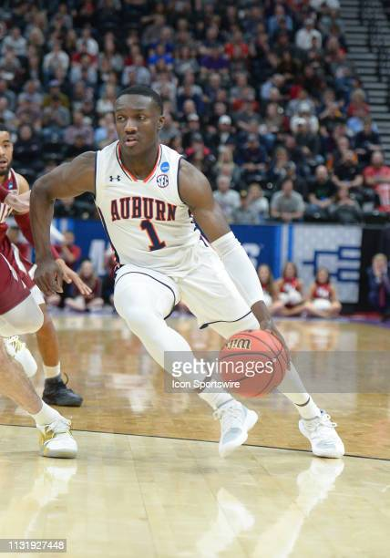 Auburn Tigers guard Jared Harper during a game between the Auburn Tigers and the New Mexico State Aggies on March 21 2019 at Vivint Smart Smart Home...