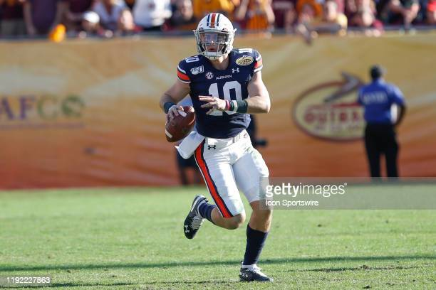 Auburn Tigers quarterback Bo Nix during the Outback Bowl between the Auburn Tigers and Minnesota Golden Gophers on January 01 2020 at Raymond James...